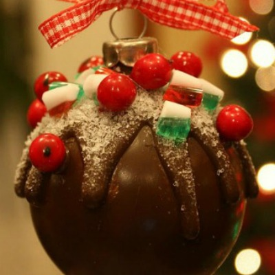 Sugared Chocolate-like Ornament