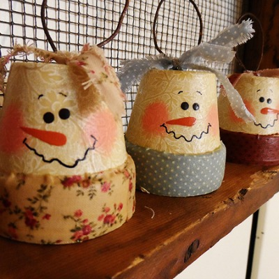 Snowman Pot Ornaments