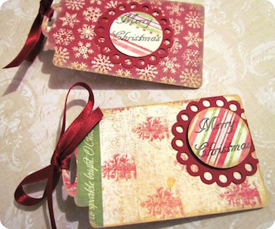 punched paper christmas gift tags