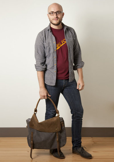 canvas and leather western bag