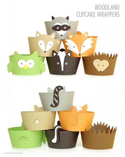 paper animal cupcake wrappers