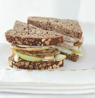 Turkey Sandwich with Apple and Walnut Mayo