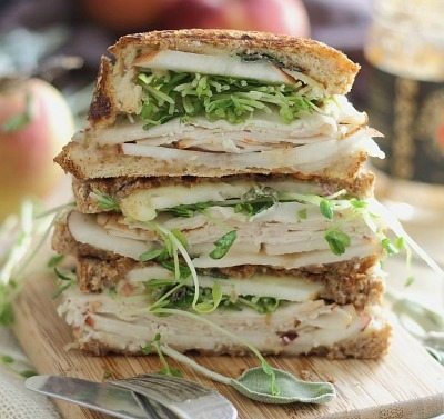 Turkey Cheddar Apple Butter Panini