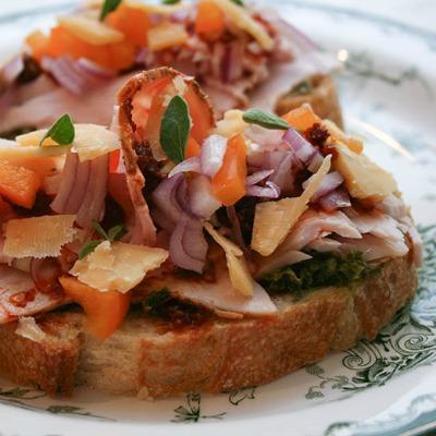 Turkey Sandwich with Salsa Verde and Rembrandt Cheese