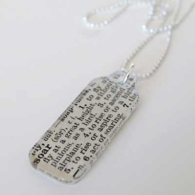 Decoupage Charm Necklace