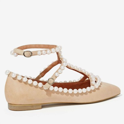 Jeffrey Campbell Gaby Leather Flat
