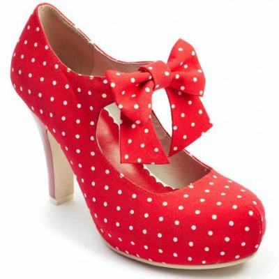 Tatyana polka dot Mary Jane shoes