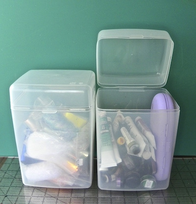 plastic flour cannisters craft supply storage