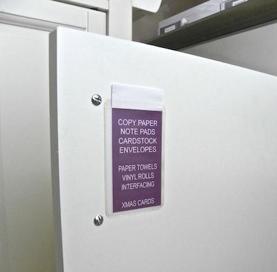 label inside cabinet door organization lisa fulmer