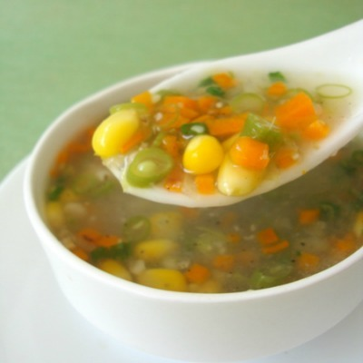 Creamy Sweet Corn Vegetable Soup