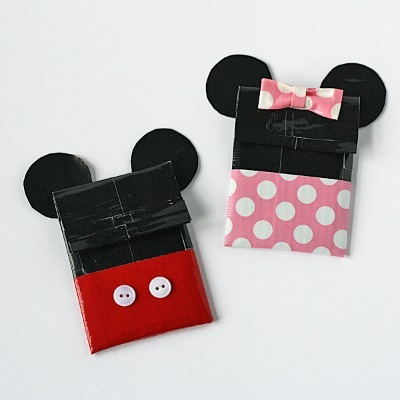Minnie and Mickey Duct Tape Gift Card Holders
