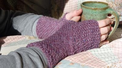 hasta mitts eco friendly yarn knitting pattern