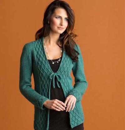 tie cardigan knitting pattern