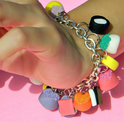 Candy air dry clay jewelry