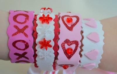 Embellished Glitter Foam Bracelets