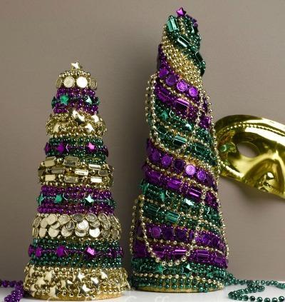 Mardi Gras Bead Cones