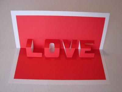 Love Pop-Up Word Card