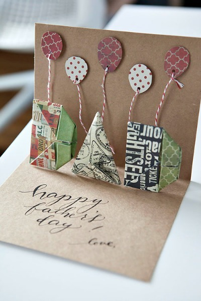Pop-Up Dad Card Close-up