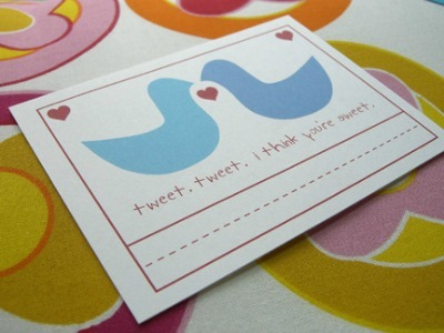 greeting Card kissing birds