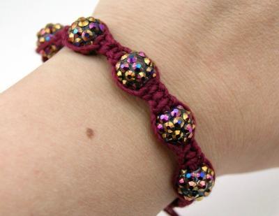 Shamballa Bracelet on Wrist