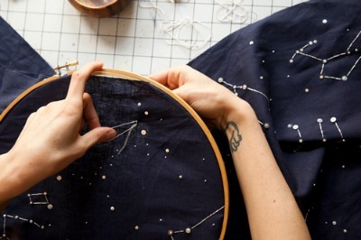 French Dot Constellation Embroidery