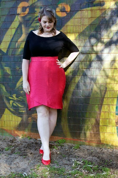 womens plus size Wrap Pencil Skirt pattern