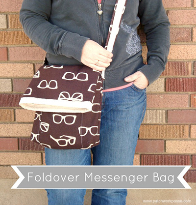 foldover messenger bag sewing pattern
