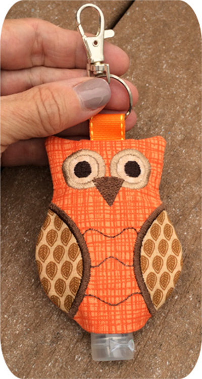 owl hand sanitizer holder
