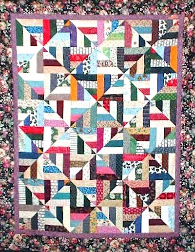 twisted strip quilt pattern