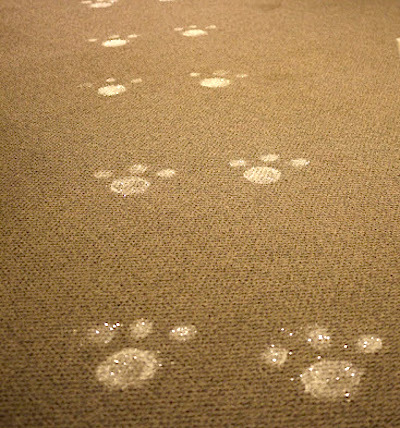 glitter easter bunny footprints