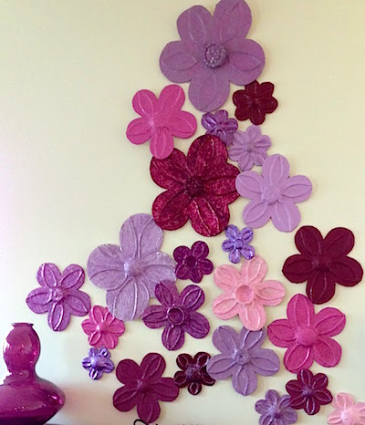 embossed Foil Wall Flowers