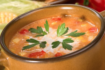 slow cooker corn red pepper chowder recipe