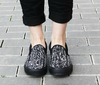 Python Print Canvas Slip-On Shoes