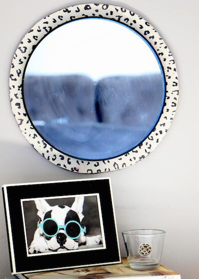 Cheetah Print Mirror