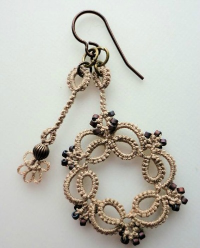 Kinetic Tatted Earrings (Single Earring)