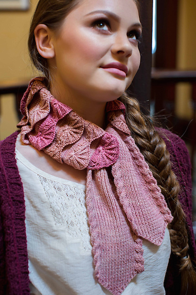 pink knitted scarf pam powers