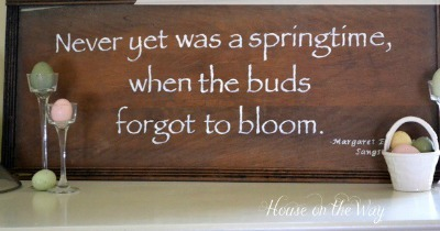 Wooden Spring Quote Sign