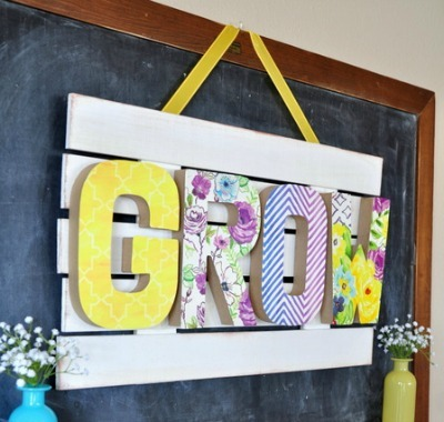 Patterned Grow Sign