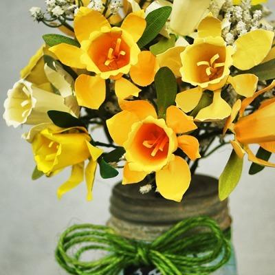 Paper Daffodil Bouquet