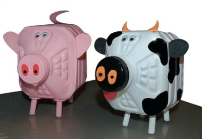 Plastic Jug Farm Animal Banks