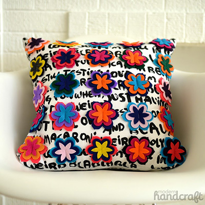 flower diecut pillow
