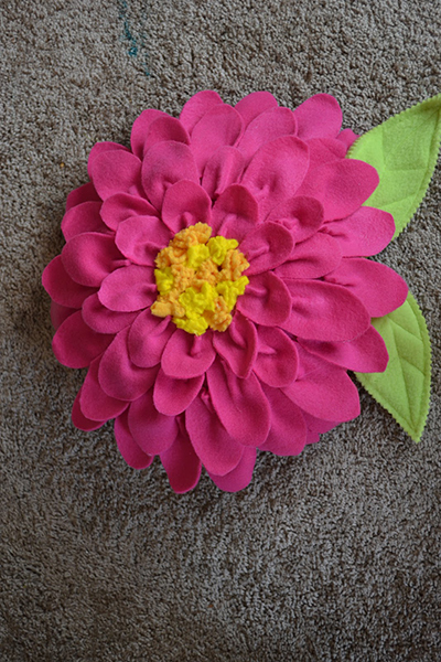 fleece flower pillow