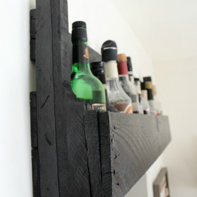 Black Pallet Shelf