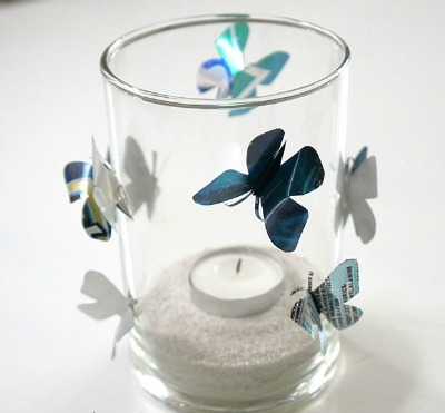 Aluminum-Can-Butterfly Candle Holder