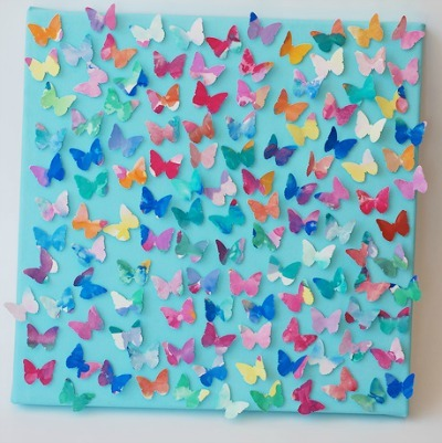 Multi-Colored Butterfly Collage