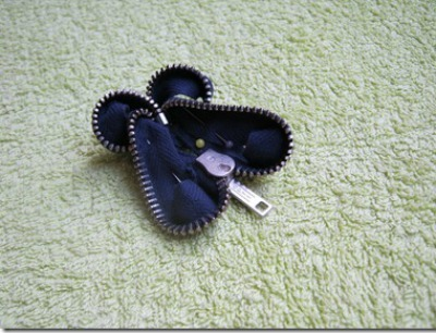 Zipper Butterfly Brooch