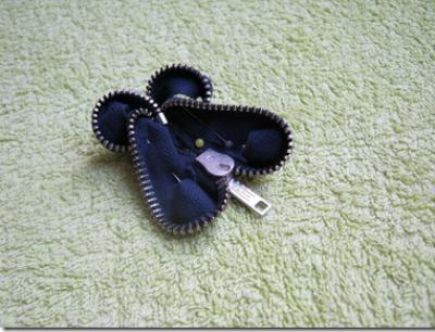 Zipper Butterfly Brooch