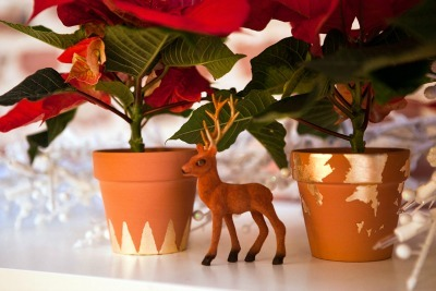 Gold Leaf Flower Pots