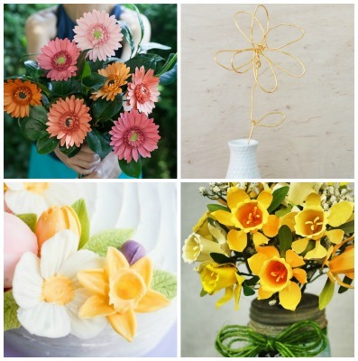 DIY Flowers, Paper Flower Tutorials, Edible Flower Tutorial, DIY Chocolate Flowers, Wire Crafts