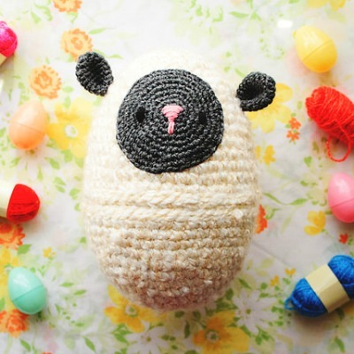 Crochet Lamb Egg, Free Crochet Pattern, DIY Crochet Sheep